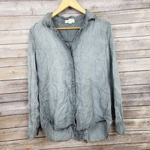 Cloth & Stone Anthropologie Gray Button Down Med